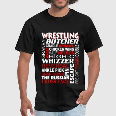 Funny Wrestling Wrestling - Butcher Freight train double - Men's T-Shirt