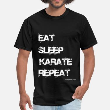 Sleeping Karate Eat Sleep Karate Repeat - Men's T-Shirt