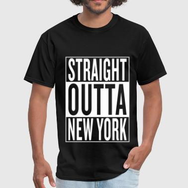 straight outta New York - Men's T-Shirt