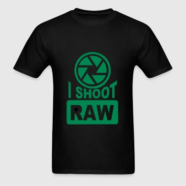 I Shoot Raw Photography Camera Photograph - Men's T-Shirt