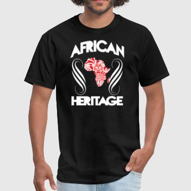 Africa Tribal Mask African Heritage With Map - Men's T-Shirt