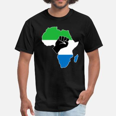 I Love Sierra Leone SIERRA LEONE FLAG - Men's T-Shirt