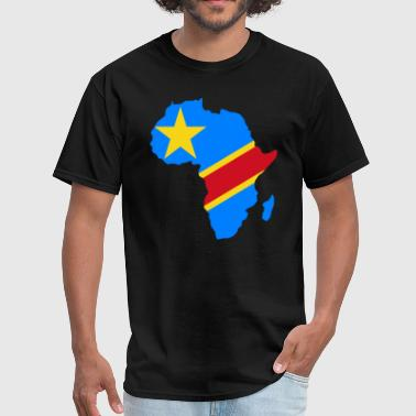 Dem Congo Flag Africa Map - Men's T-Shirt