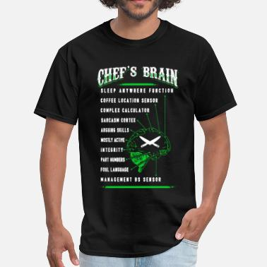 Chef Funny Chef's Brain Shirt - Men's T-Shirt