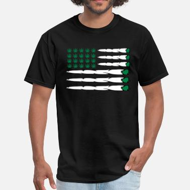 Weed Flag MARIJUANA FLAG - Men's T-Shirt