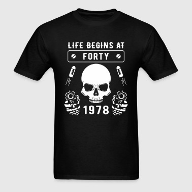 Life Begins At Forty 1978 Funny T Shirt - Men's T-Shirt