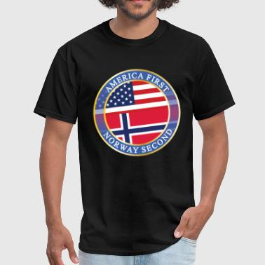 America First Netherlands Second AMERICA FIRST NORWAY SECOND - Men's T-Shirt