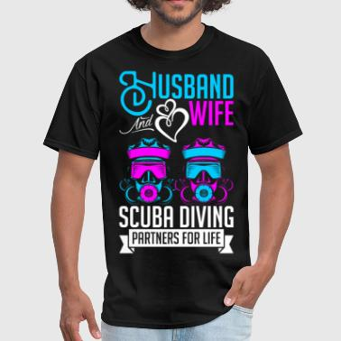 Husband And Wife Scuba Diving Partners For Life - Men's T-Shirt