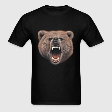 Big In Your Face Grizzly Bear Bite - Men's T-Shirt