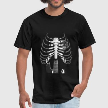 Guitar Skeleton Microphone Rock Music Lovers - Men's T-Shirt