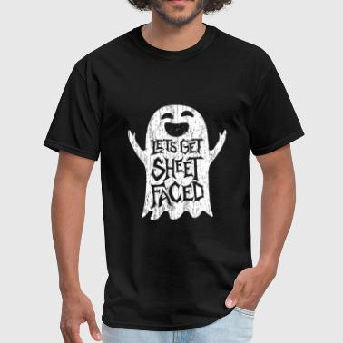 Lets Get Sheet Faced Ghost - Men's T-Shirt