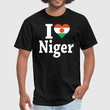 I Love Niger I Love Niger Flag - Men's T-Shirt