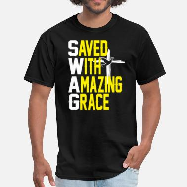 Saved With Amazing Grace AMAZING GRACE - Men's T-Shirt