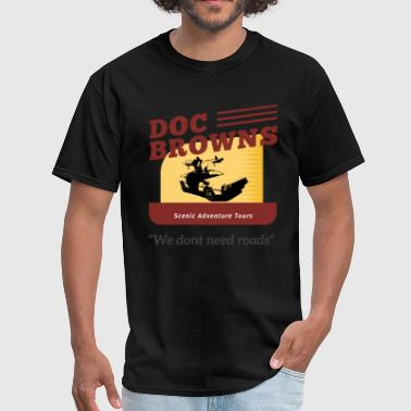 Back to the Future - Doc Brown Tours - Men's T-Shirt
