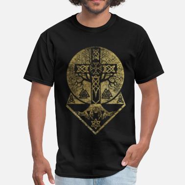 a370d85ae Celtic Cross Tree of life -Yggdrasil and Celtic Cross - Men's