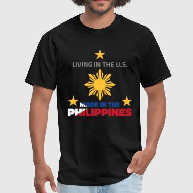 Filipino Flag Philippines Made in the Philippines - Men's T-Shirt