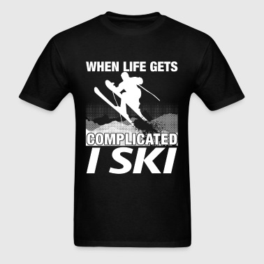Skiing - When life gets complicated I ski - Men's T-Shirt