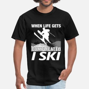 Jet Ski Baby Skiing - When life gets complicated I ski - Men's T-Shirt
