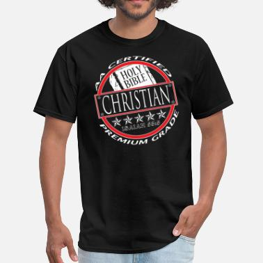 Premium Grade AA Certified Christian-(For Black Shirt) - Men's T-Shirt
