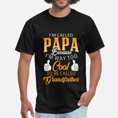 Usmc Love Papa - I'm way too cool to be called grandfather - Men's T-Shirt