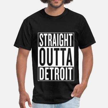 Detroit Iron straight outta Detroit - Men's T-Shirt