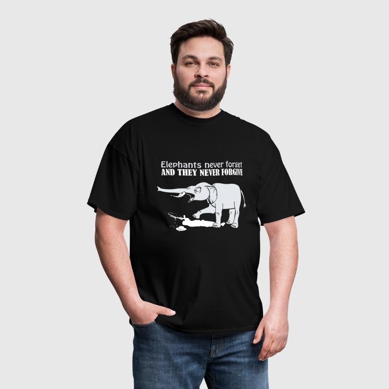 ELEPHANTS NEVER FORGET AND THEY NEVER FORGIVE - Men's T-Shirt