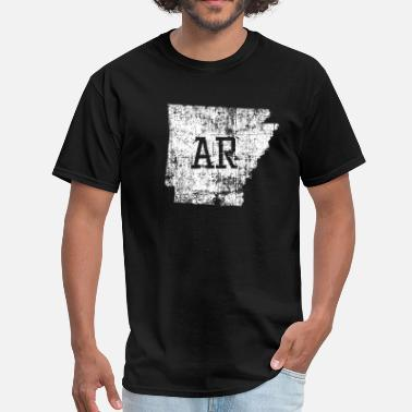 Us States Arkansas State Map Used - Men's T-Shirt