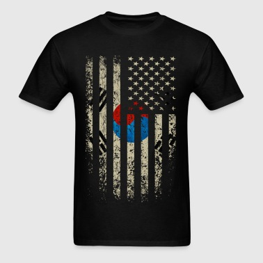 South Korea US Flag - Men's T-Shirt