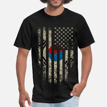 South Korea South Korea US Flag - Men's T-Shirt