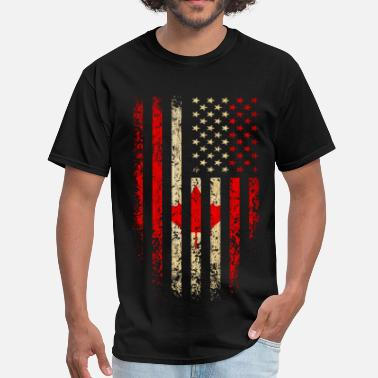 Usa Canada US Flag Grunge - Men's T-Shirt