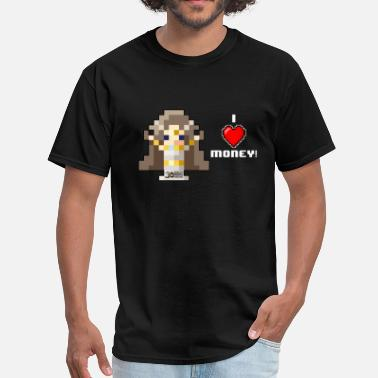 Money Heart Time Goddess - I HEART Money (White text) - Men's T-Shirt