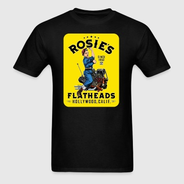 Rosie's Flatheads color - Men's T-Shirt