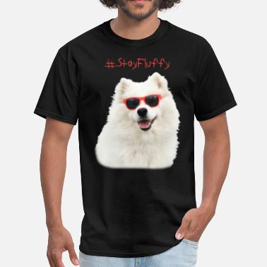 Dogs Wearing Sunglasses Fluffy in sunglasses - Men's T-Shirt