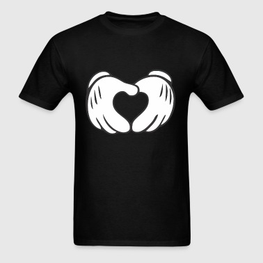 Mickey Mouse Heart Crewneck Sweatshirt - Men's T-Shirt