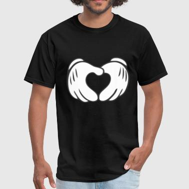 Mickey Mouse Hand Heart Mickey Mouse Heart Crewneck Sweatshirt - Men's T-Shirt