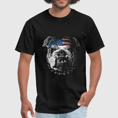 Bandana Bulldog Wearing Bandana Cool Dog Puppy Animal Love - Men's T-Shirt