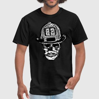 firefighter mustache - Men's T-Shirt