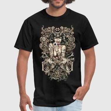 Naked Draw Tattooed evil Girl - Men's T-Shirt