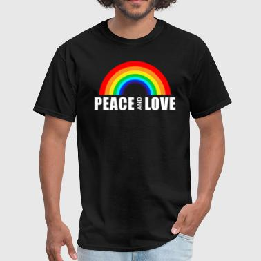 LGBT PEACE AND LOVE - Men's T-Shirt