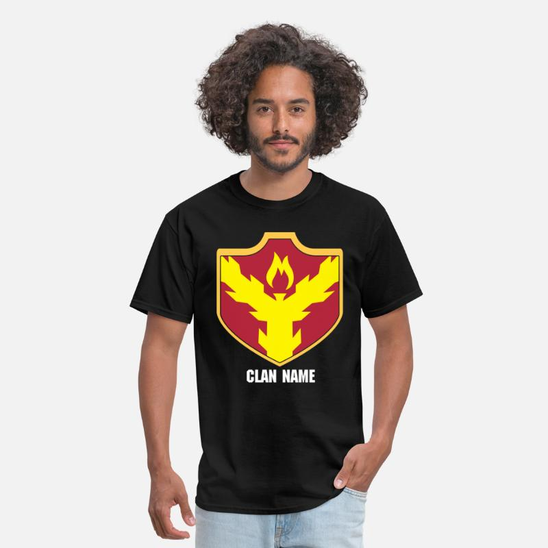 Clash Of Clans T-Shirts - Clash With Your Clan, Custom Clan Shields - Men's T-Shirt black