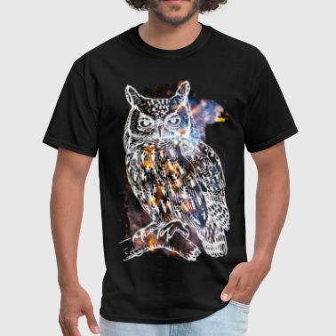 Galactic Owl - Men's T-Shirt