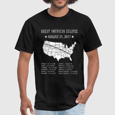 Great American Eclipse States Times - Men's T-Shirt