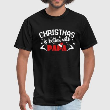 Bad News Bears Christmas Is Better With Papa - Men's T-Shirt