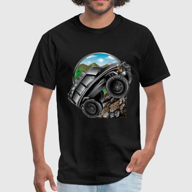 XJ Cartoon Jeep Black - Men's T-Shirt