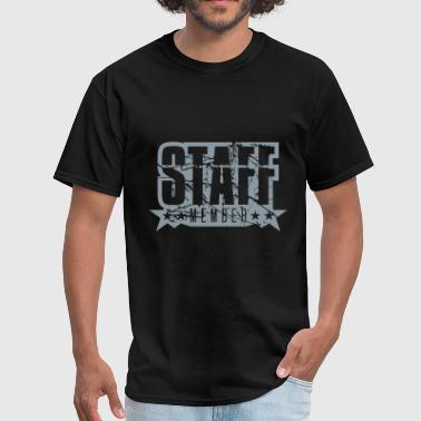 cracks scratch old stamp staff member crew member - Men's T-Shirt