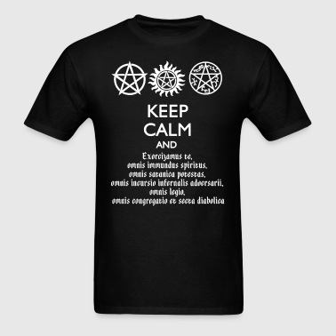 Supernatural Keep Calm and Exorcise - Men's T-Shirt
