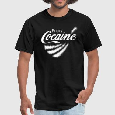 Pablo Escobar Enjoy Cocaine v2 - Men's T-Shirt