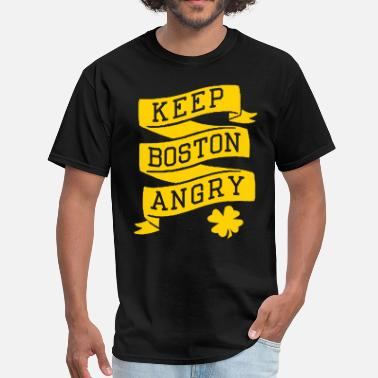Angry Patriotic Keep Boston Angry - Men's T-Shirt