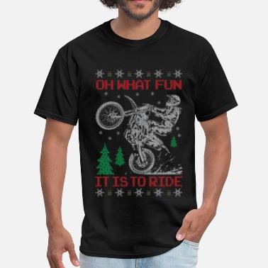 Christmas Motocross Motocross Ugly Christmas - Men's T-Shirt