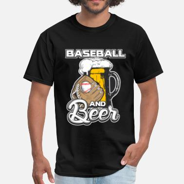 Beer Baseball Baseball and Beer - Men's T-Shirt